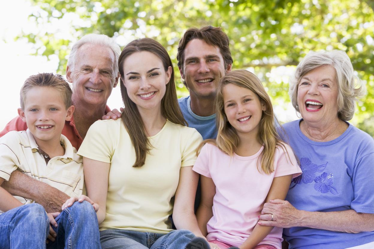 Family Sitting Together | Monroe Dental Arts