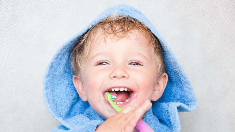 Kid Brushing His Teeth | Monroe Dental Arts